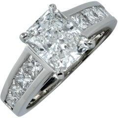 GIA Graded 2.01 Carat Diamond Engagement Ring