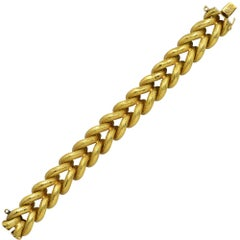 Italian 18 Karat Yellow Gold Link Bracelet, circa 1980s
