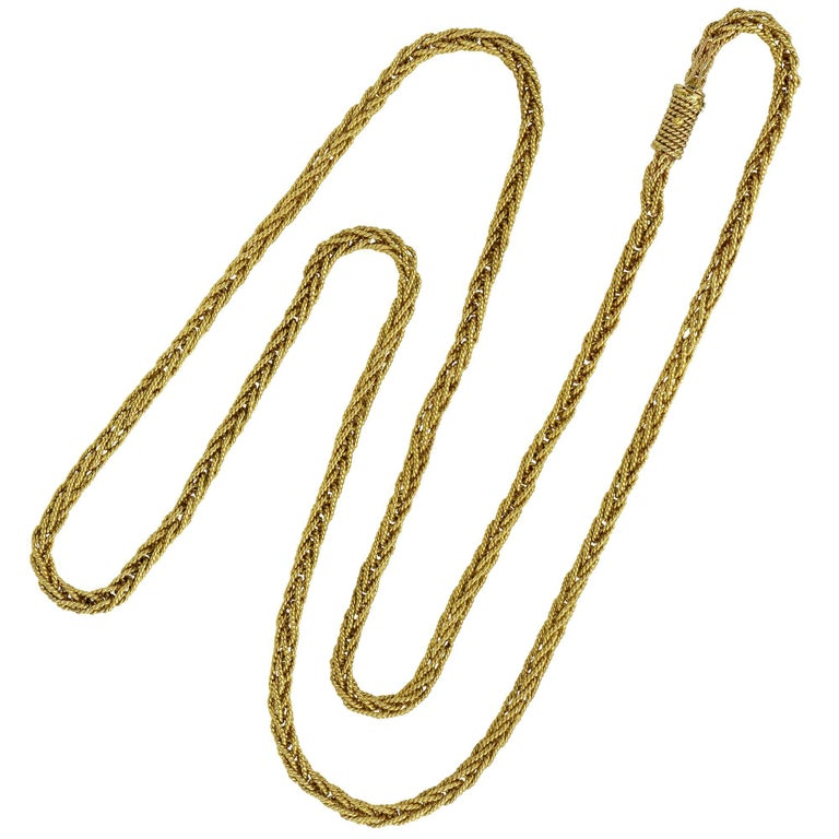 14 Karat Yellow Gold Twisted and Braided Necklace
