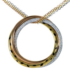Cartier Trinity Panther Gold and Diamond Necklace