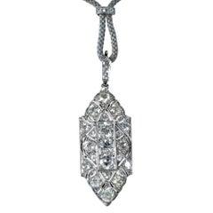 5.50 Carat Diamond Art Deco Necklace, circa 1920s