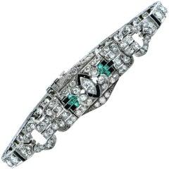 5 Carat Diamond Art Deco Diamond Bracelet