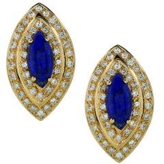 Lapis and Diamond Earrings