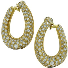 8 Carat Diamond Clip-On Earrings