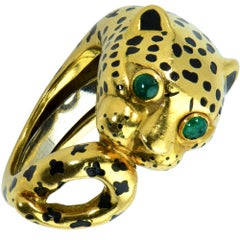 David Webb Leopard Ring