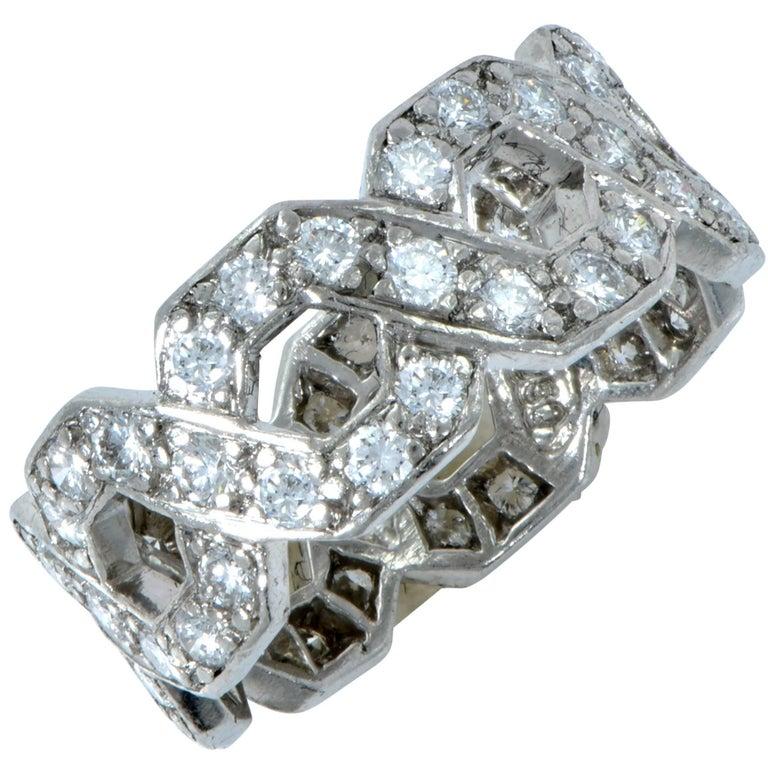 Tiffany & Co. Hexagonal Link Diamond Band 1