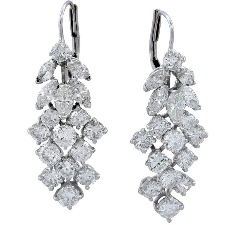 5 Carat Diamond Earrings For Sale