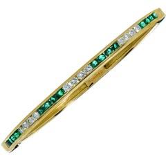 Tiffany & Co. Emerald and Diamond Bangle