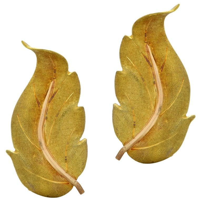 Buccellatti Leaf Earrings