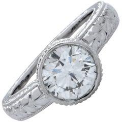 GIA Graded 1.11 Carat Diamond Engagement Ring