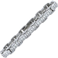 8.40 Carat Diamond Platinum Line Bracelet