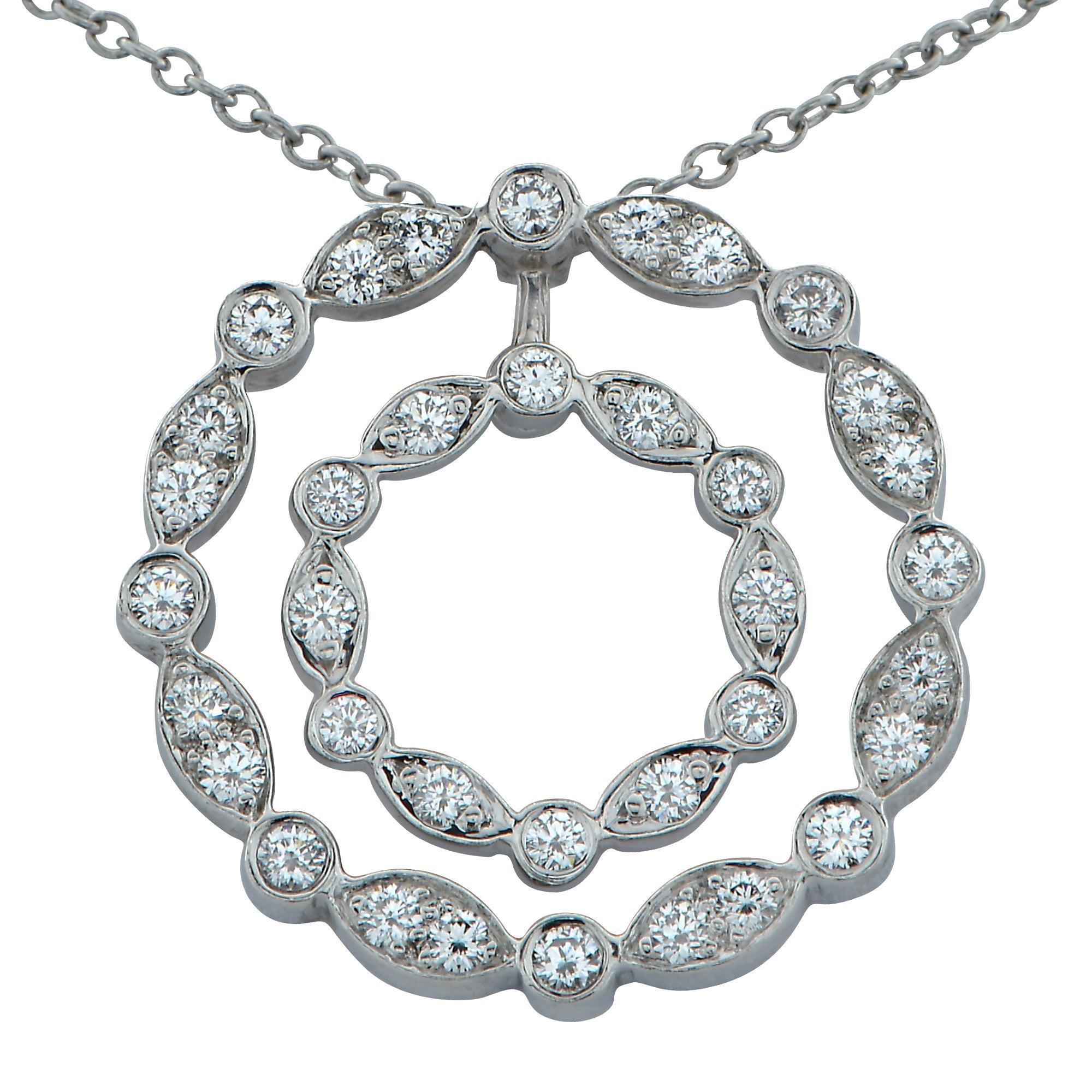 47171c16f Tiffany And Co Diamond Double Swing Platinum Pendant At 1stdibs