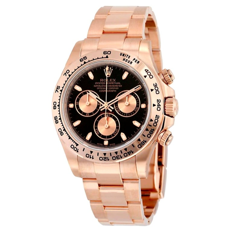 Rolex Rose Gold Daytona Cosmograph Self Winding Wristwatch Ref 116505