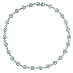 Boucheron Paris Ava 12.8 Carat Diamond and 18 Karat White Gold Necklace