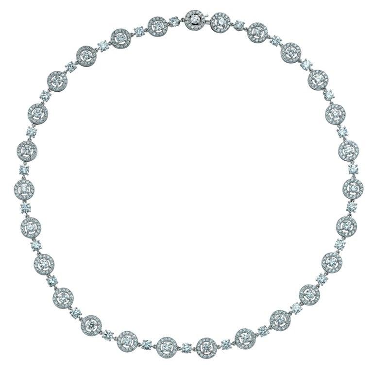 Boucheron Paris Ava 12.8 Carat Diamond and 18 Karat White Gold Necklace