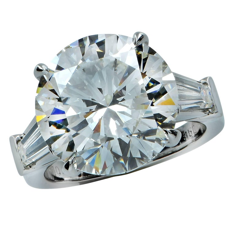 GIA Graded 10.01 Carat Round Brilliant Cut Diamond Engagement Ring