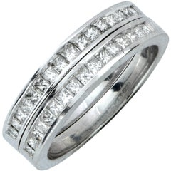 Matching 1.25 Carat Diamond Wedding Band Set