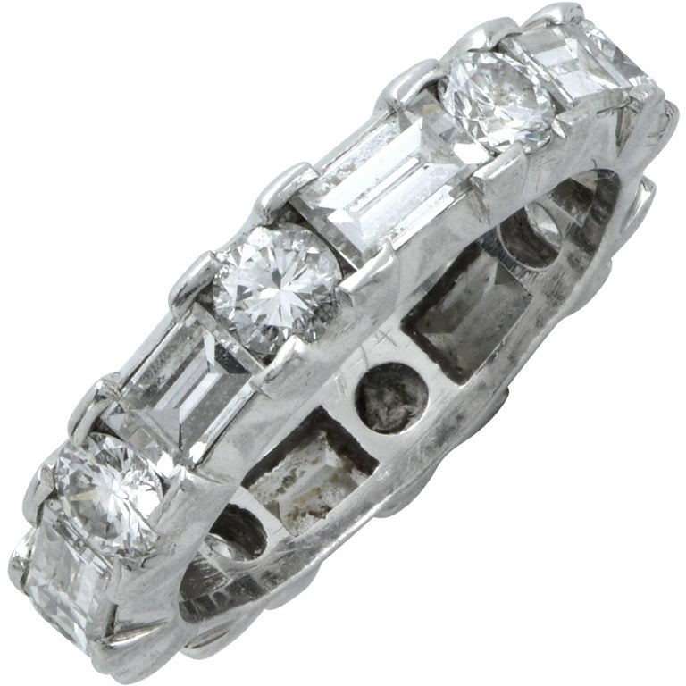 3.15 Carat Diamond Wedding Eternity Band For Sale