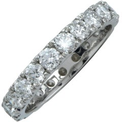 1.43 Carat Diamond Wedding Eternity Platinum Band