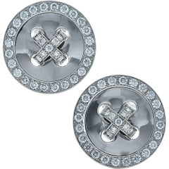 Van Cleef & Arpels Button Earrings