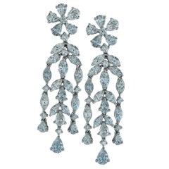 5 Carat Diamond Dangle Earrings