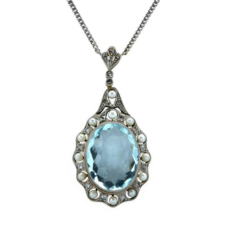 Edwardian Aquamarine Necklace