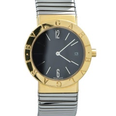 Bulgari Yellow Gold Stainless Steel Tubogas Quartz Wristwatch