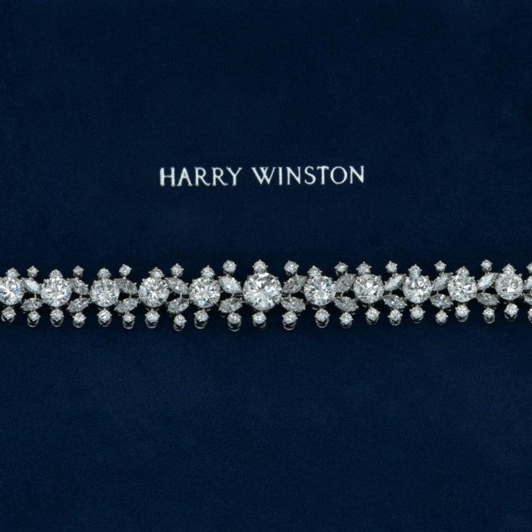 Old European Cut Important Midcentury Harry Winston 52 Carat Diamond Necklace Bracelet Set For Sale