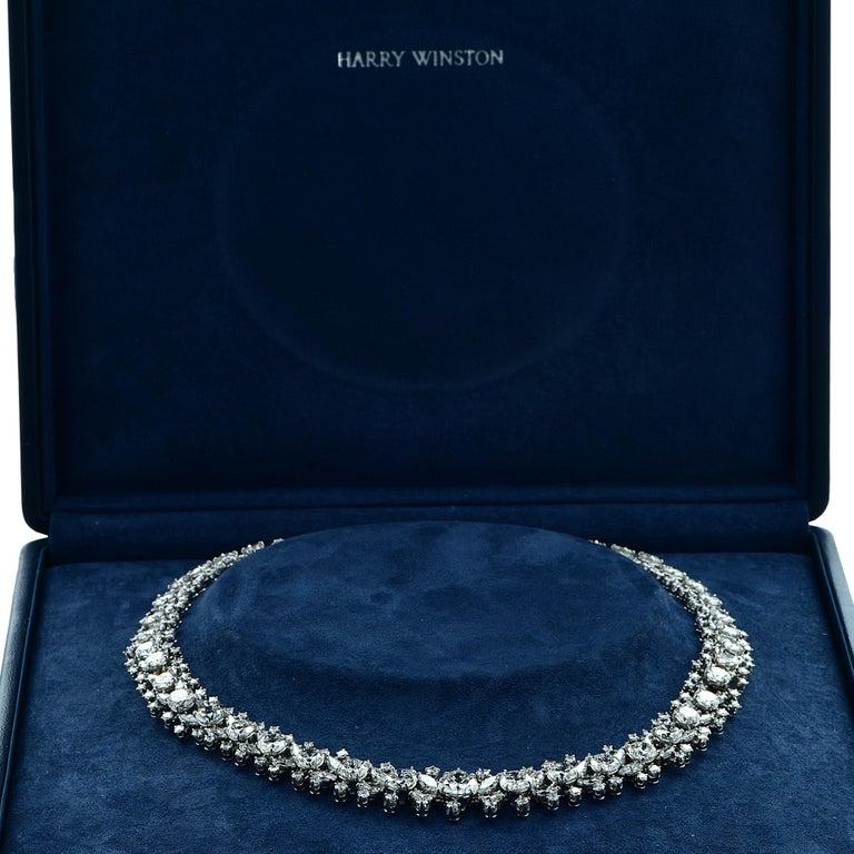Modern Important Midcentury Harry Winston 52 Carat Diamond Necklace Bracelet Set For Sale