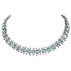 Important Midcentury Harry Winston 52 Carat Diamond Necklace Bracelet Set