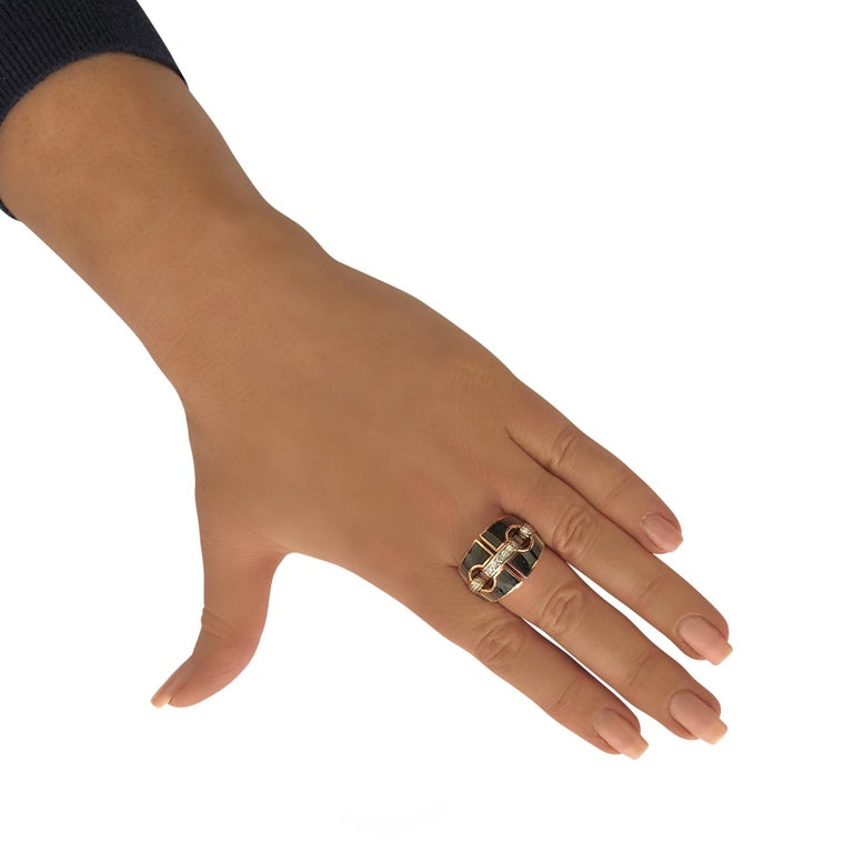 Modern Chimento Mother-of-Pearl and Diamond 18 Karat Rose and White Gold Ring For Sale