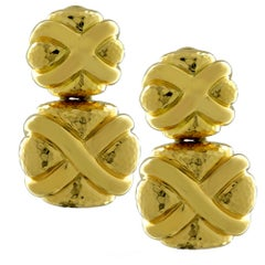 Andrew Clunn 18 Karat Yellow Gold Dangle Earrings