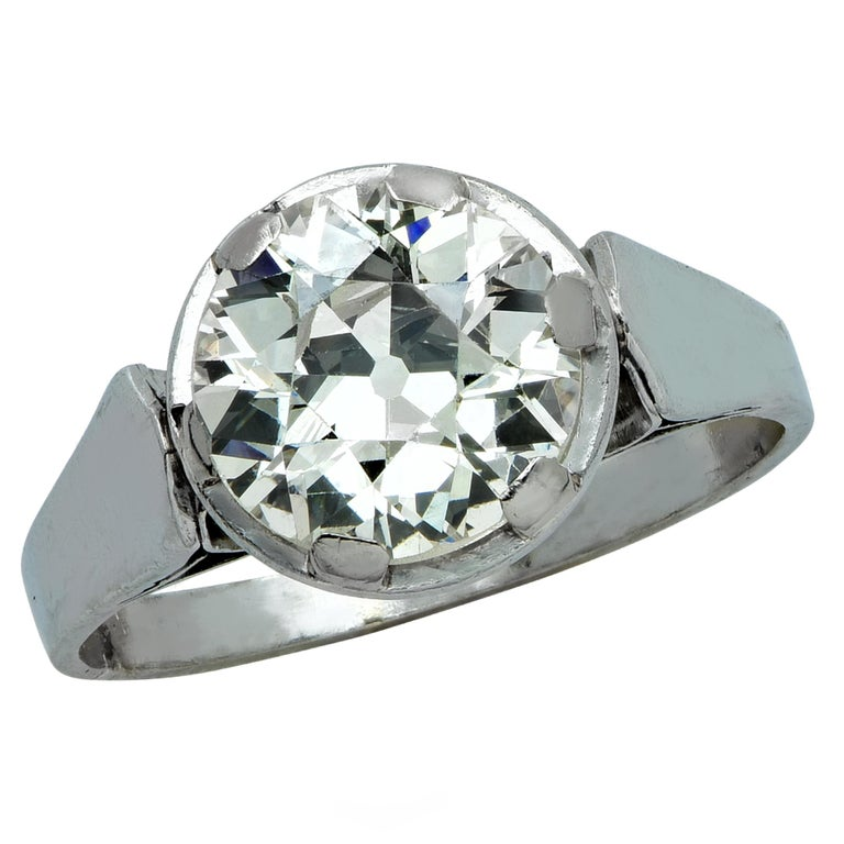 26 Carat Old European Diamond Platinum Engagement Ring At. Spiral Rings. Western Wedding Rings. 3mm Engagement Rings. Green Onyx Rings. Multi Stone Wedding Rings. Female Wedding Rings. Groom Engagement Rings. Aztec Rings