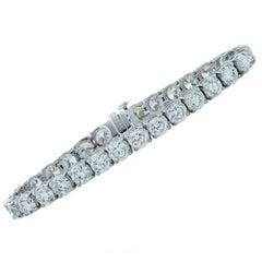 21.33 Carat Diamond Tennis Bracelet