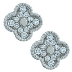 Van Cleef & Arpels Vintage Alhambra Diamond Earrings