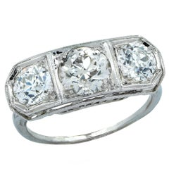 3.50 Carat Art Deco Diamond Ring