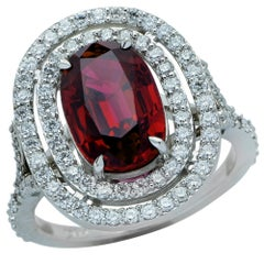 3.26 Carat Ruby and Diamond Ring