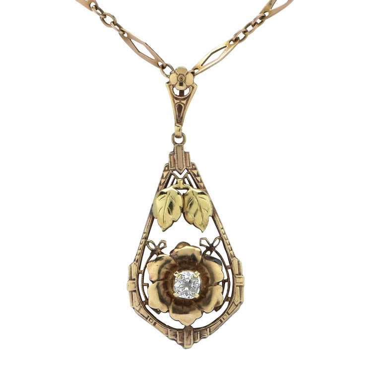 .30 Carat Old Mine Cut Diamond Necklace