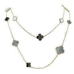 Van Cleef & Arples Magic Alhambra Long Necklace, 16 Motifs-