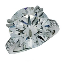 GIA Certified 11.02 Carat Round Brilliant Cut Diamond Engagement Ring