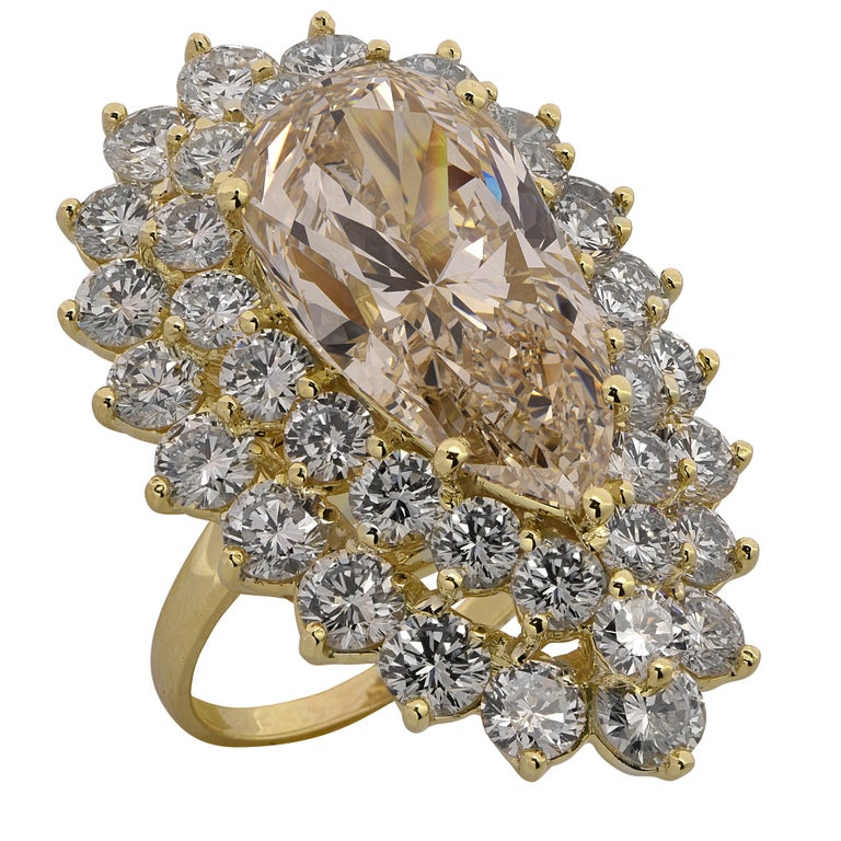 Modern 11.72 Carat Pear Shape Diamond Ring For Sale