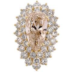 11.72 Carat Pear Shape Diamond Ring