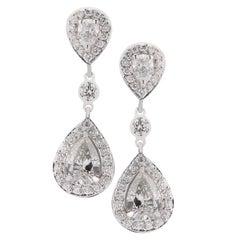 4.87 Carat Diamond Dangle Earrings