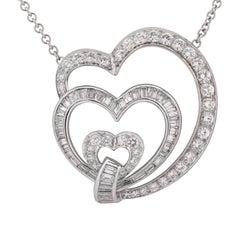 3 Carat Diamond Heart Necklace