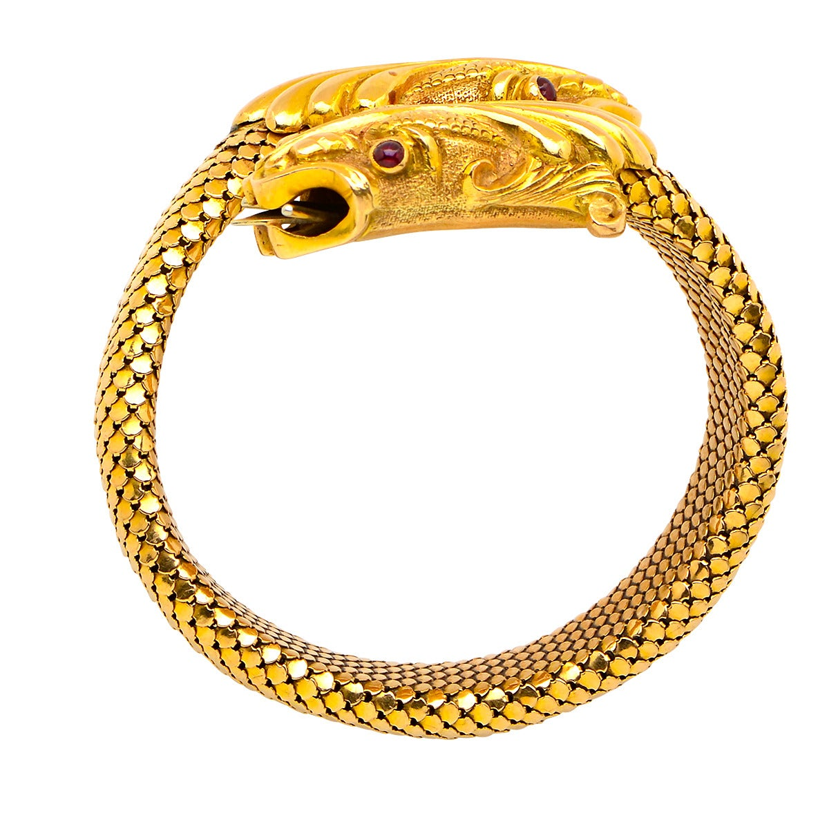 ruby gold dragon bracelet at 1stdibs