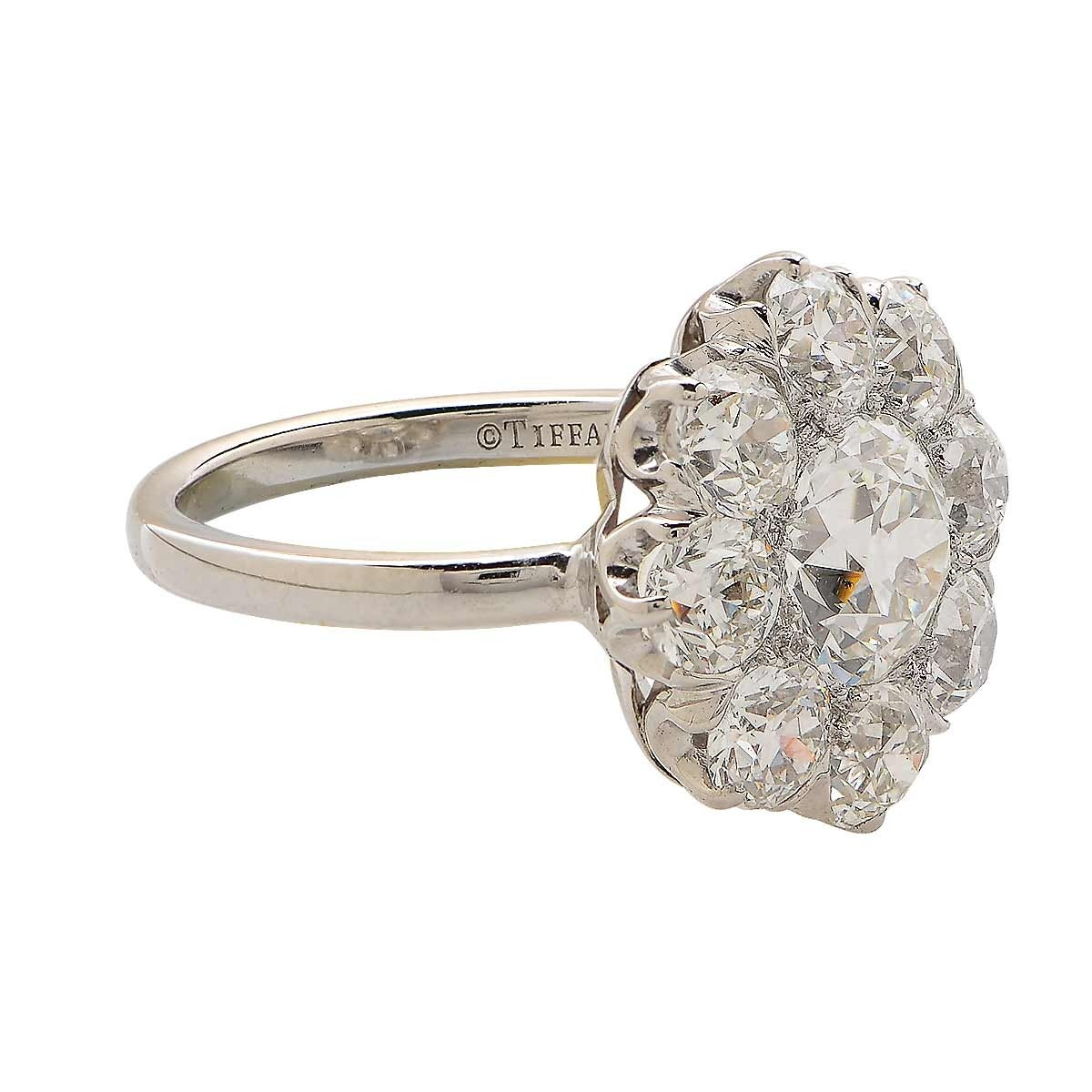Tiffany and Co 3 65 Carat Diamond Cluster Ring at 1stdibs