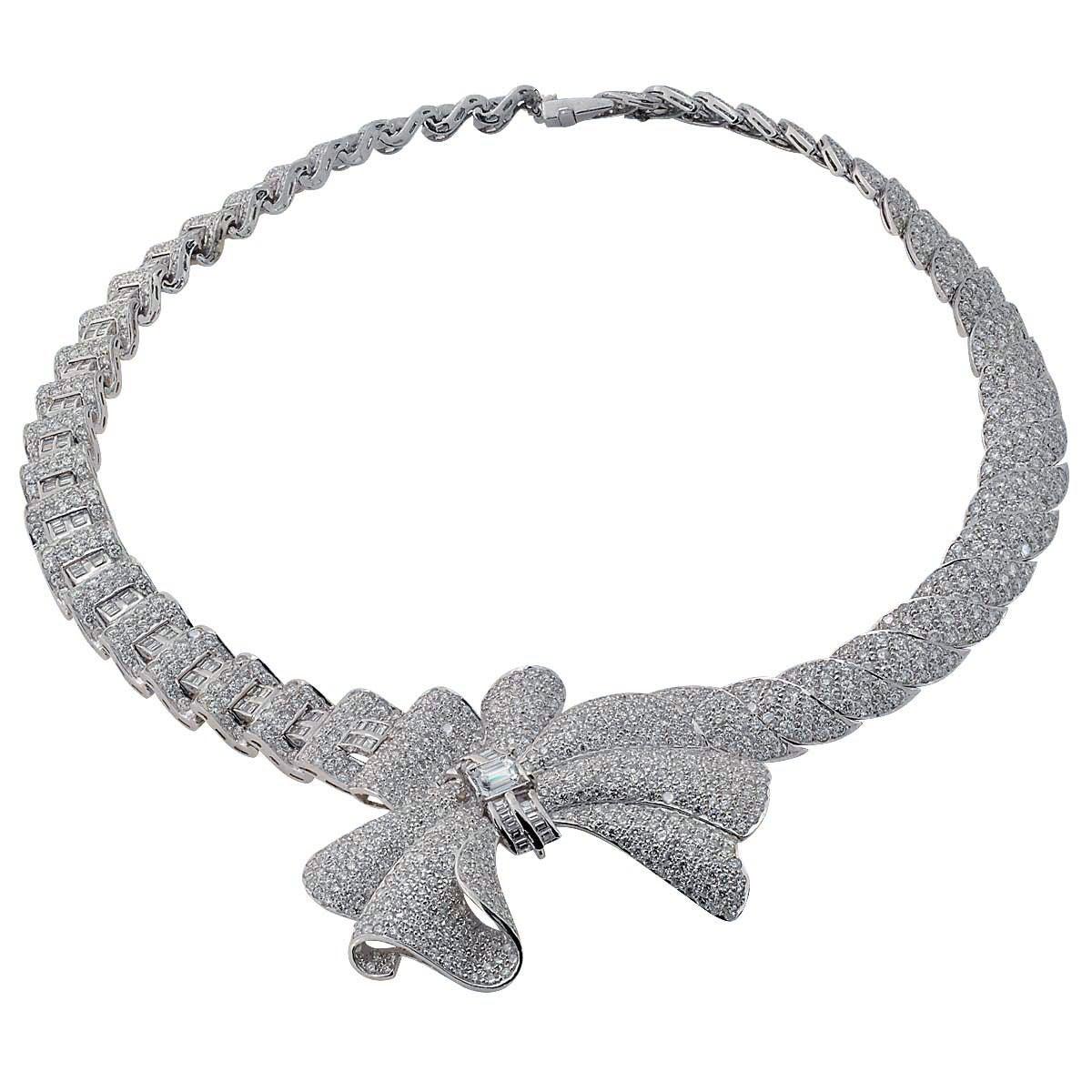 Exquisite Lady's Diamond Platinum Necklace