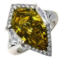 Exotic 7.94 Carat GIA Graded Fancy Color Diamond Ring