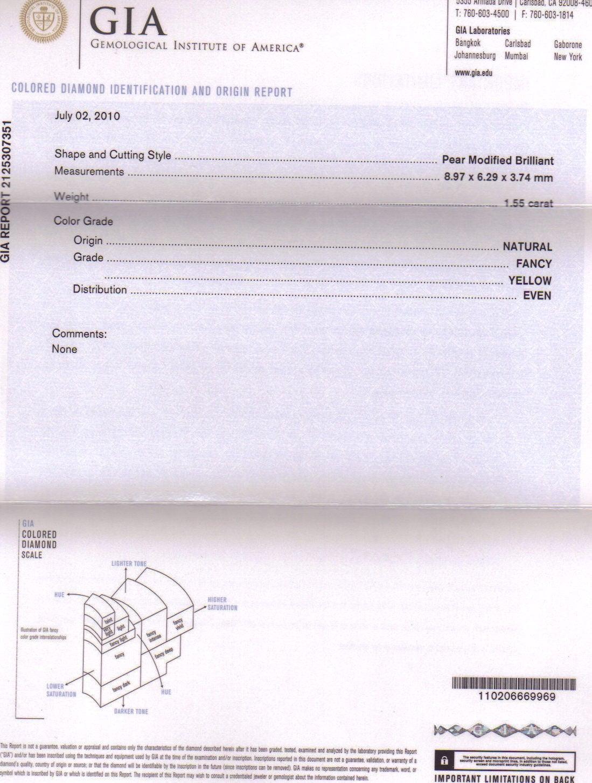 3.17 Carat GIA Certified Diamond Gold Earrings 3