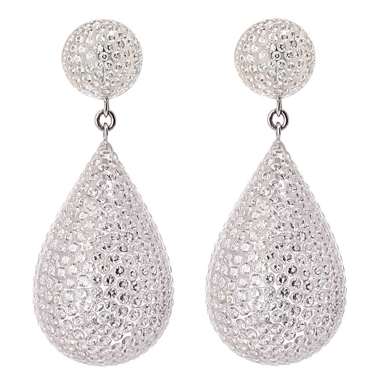 8.99 Carat Diamond Gold Dangle Earrings
